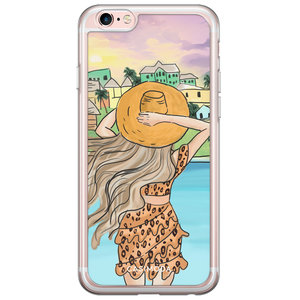 Casimoda iPhone 6/6S siliconen hoesje - Sunset girl