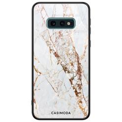 Casimoda Samsung Galaxy S10e glazen hardcase - Marmer goud