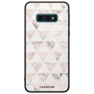 Casimoda Samsung Galaxy S10e glazen hardcase - Snake triangles