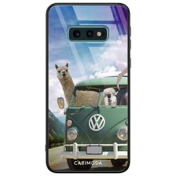 Casimoda Samsung Galaxy S10e glazen hardcase - Lama adventure