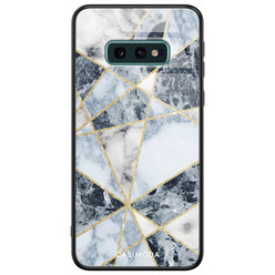 Casimoda Samsung Galaxy S10e glazen hardcase - Abstract marmer blauw