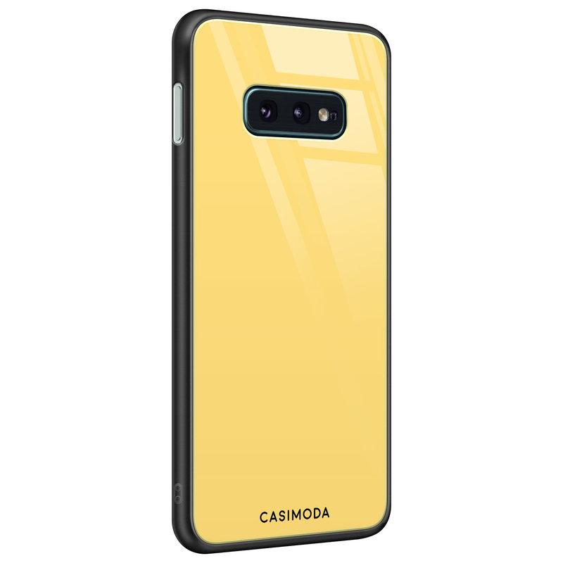 Casimoda Samsung Galaxy S10e glazen hardcase - Yellow sun