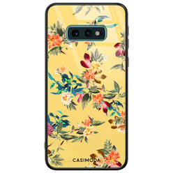 Casimoda Samsung Galaxy S10e glazen hardcase - Florals for days
