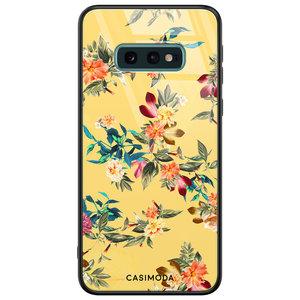 Casimoda Samsung Galaxy S10e glazen hardcase - Florals for days