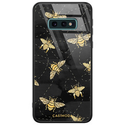 Casimoda Samsung Galaxy S10e glazen hardcase - Bee yourself