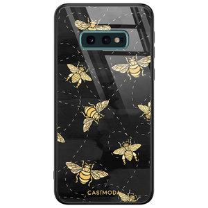 Casimoda Samsung Galaxy S10e glazen hardcase - Bee yourself