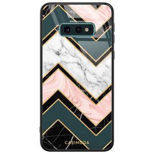Casimoda Samsung Galaxy S10e glazen hardcase - Marmer triangles