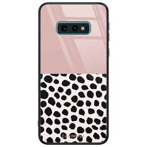 Casimoda Samsung Galaxy S10e glazen hardcase - Pink dots
