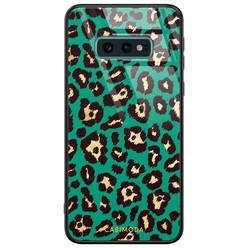 Casimoda Samsung Galaxy S10e glazen hardcase - Luipaard groen