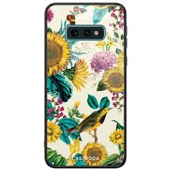 Casimoda Samsung Galaxy S10e glazen hardcase - Sunflowers
