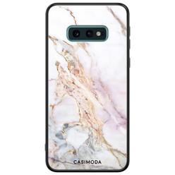Casimoda Samsung Galaxy S10e glazen hardcase - Parelmoer marmer
