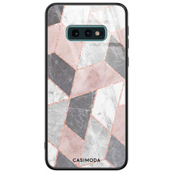 Casimoda Samsung Galaxy S10e glazen hardcase - Stone grid