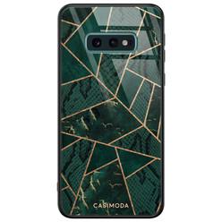 Casimoda Samsung Galaxy S10e glazen hardcase - Abstract groen