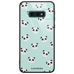Casimoda Samsung Galaxy S10e glazen hardcase - Panda print