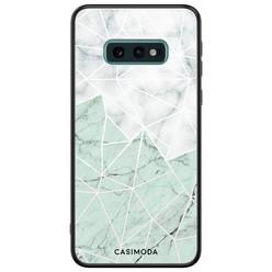 Casimoda Samsung Galaxy S10e glazen hardcase - Marmer mint mix