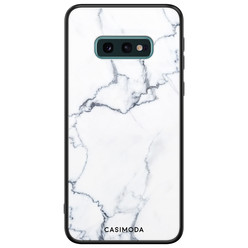 Casimoda Samsung Galaxy S10e glazen hardcase - Marmer grijs