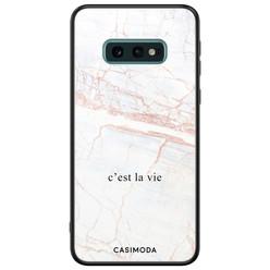 Casimoda Samsung Galaxy S10e glazen hardcase - C'est la vie