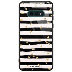 Casimoda Samsung Galaxy S10e glazen hardcase - Hart streepjes
