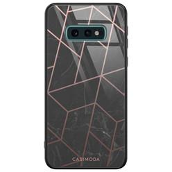 Casimoda Samsung Galaxy S10e glazen hardcase - Marble grid