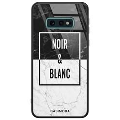 Casimoda Samsung Galaxy S10e glazen hardcase - Noir et blanc