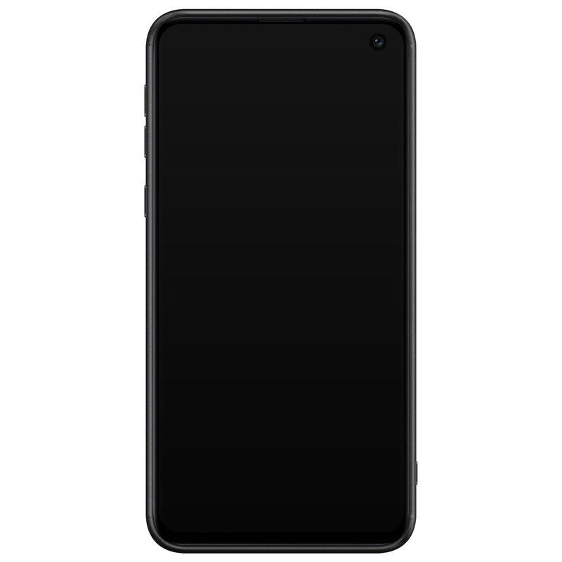 Casimoda Samsung Galaxy S10e glazen hardcase - Cactus quote
