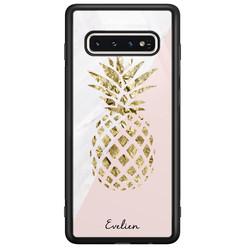 Casimoda Samsung Galaxy S10 glazen hoesje ontwerpen - Ananas