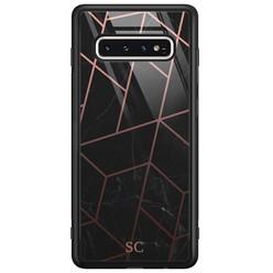 Casimoda Samsung Galaxy S10 glazen hoesje ontwerpen - Marble grid