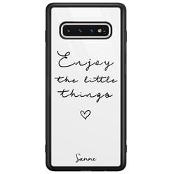 Casimoda Samsung Galaxy S10 glazen hoesje ontwerpen - Enjoy life