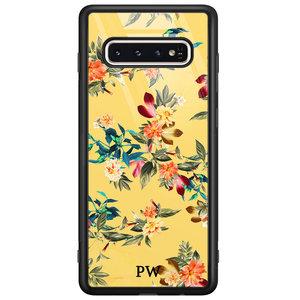 Casimoda Samsung Galaxy S10 glazen hoesje ontwerpen - Florals for days