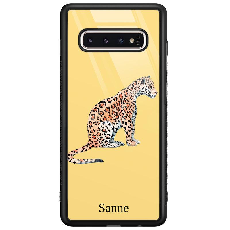 Casimoda Samsung Galaxy S10 glazen hoesje ontwerpen - Leo wild