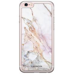 iPhone 6/6S siliconen hoesje - Parelmoer marmer