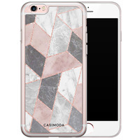 Casimoda iPhone 6/6s siliconen hoesje - Stone grid