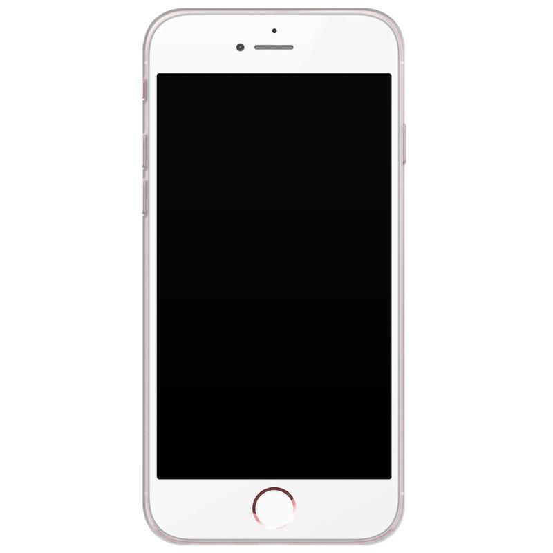 iPhone 6/6s siliconen hoesje - Stone grid