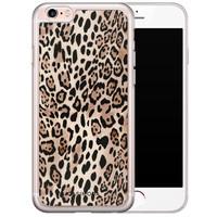 Casimoda iPhone 6/6s siliconen hoesje - Golden wildcat