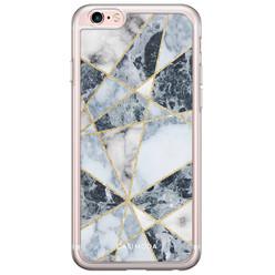 iPhone 6/6S siliconen hoesje - Marmer blauw