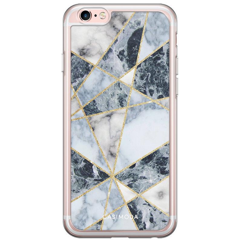 Casimoda iPhone 6/6S siliconen hoesje - Marmer blauw