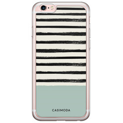 iPhone 6/6s siliconen hoesje - Stripes on stripes