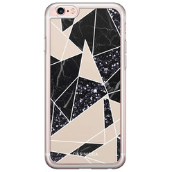 iPhone 6/6S siliconen hoesje - Abstract painted