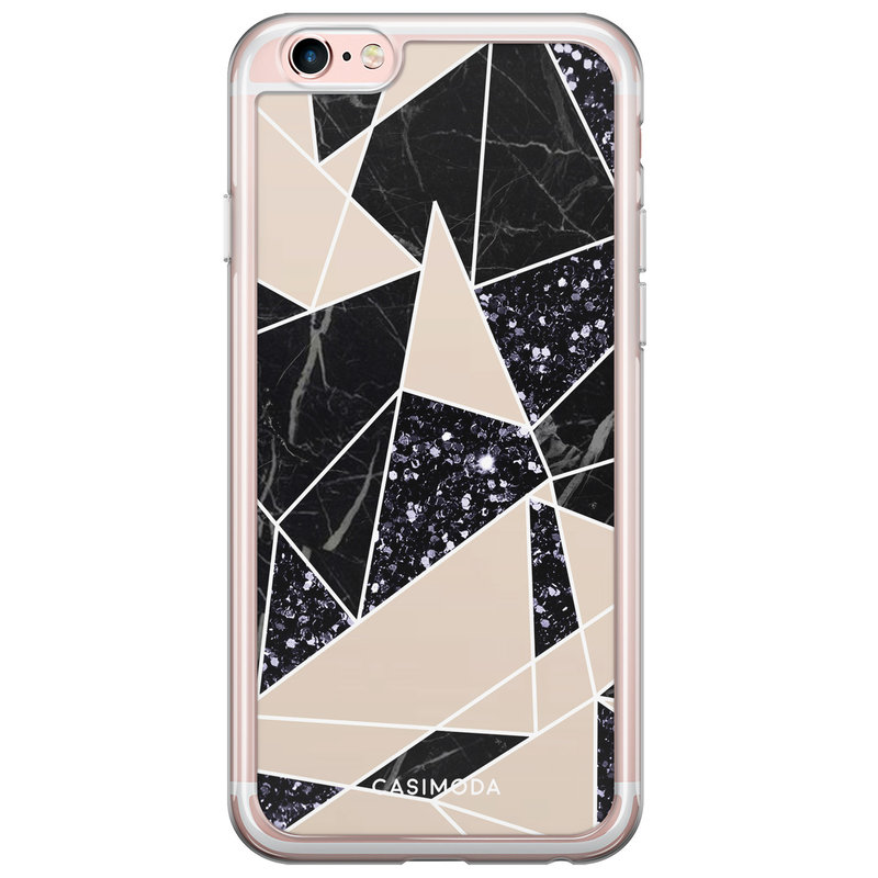 Casimoda iPhone 6/6S siliconen hoesje - Abstract painted