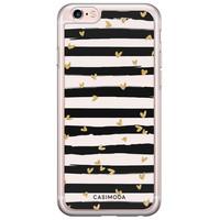 Casimoda iPhone 6/6S siliconen hoesje - Hart streepjes