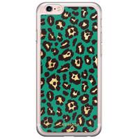 Casimoda iPhone 6/6s siliconen hoesje - Luipaard groen