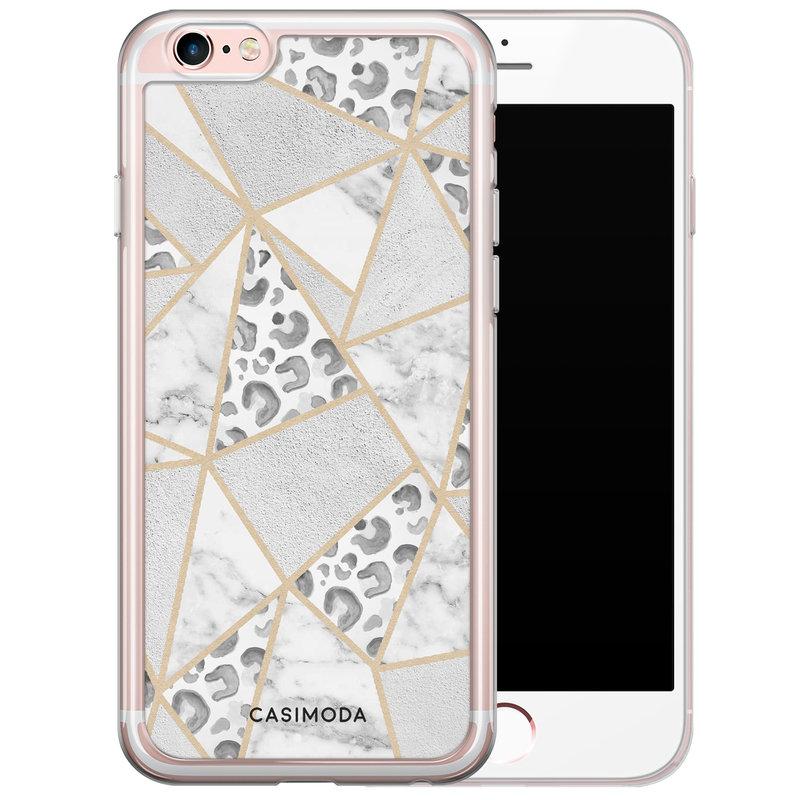 Casimoda iPhone 6/6S siliconen hoesje - Stone & leopard print