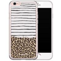 Casimoda iPhone 6/6s siliconen hoesje - Leopard lines