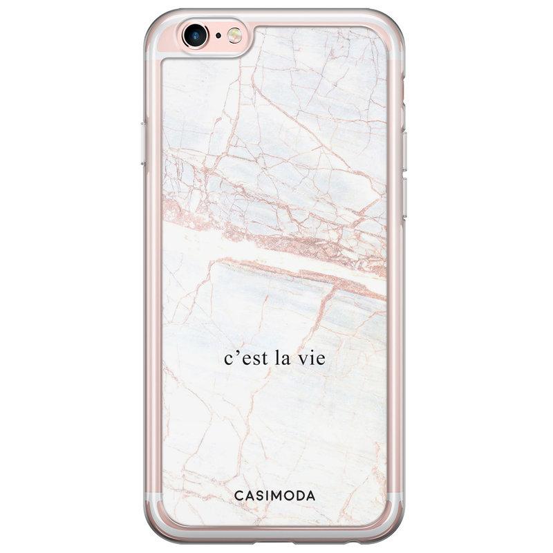 Casimoda iPhone 6/6S siliconen hoesje - C'est la vie