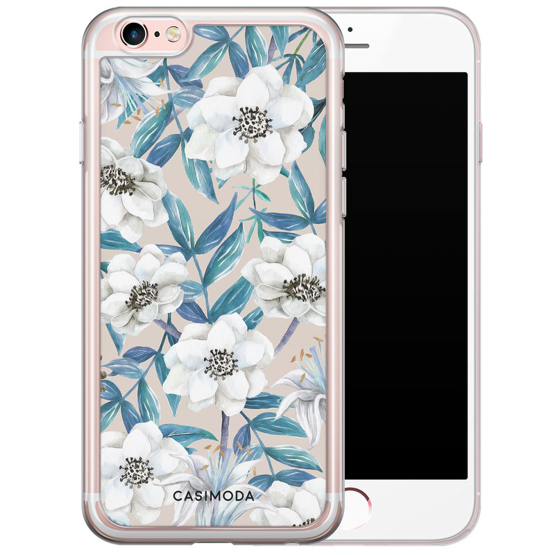 Casimoda iPhone 6/6S siliconen hoesje - Touch of flowers