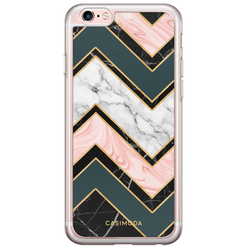 Casimoda iPhone 6/6S siliconen hoesje - Marmer triangles