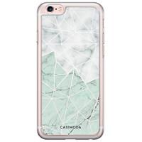 Casimoda iPhone 6/6S siliconen hoesje - Marmer mint mix