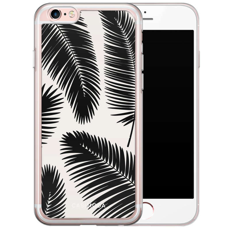 Casimoda iPhone 6/6S siliconen hoesje - Palm leaves silhouette