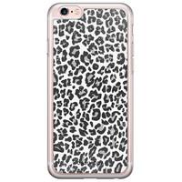 Casimoda iPhone 6/6s siliconen hoesje - Luipaard grijs