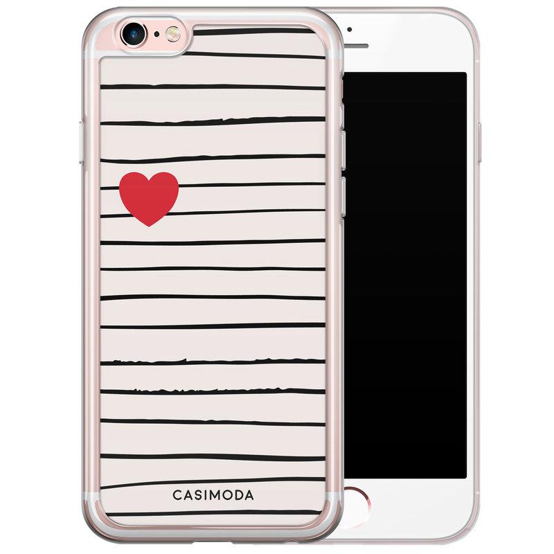 Casimoda iPhone 6/6s siliconen hoesje - Heart queen